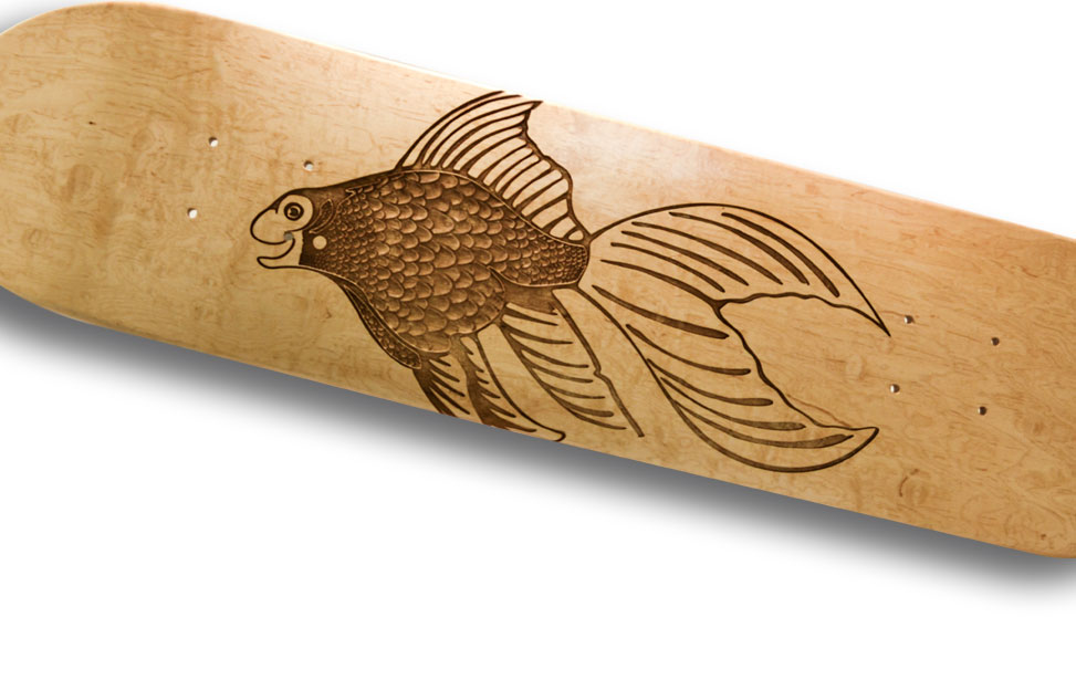 laser etched skateboard